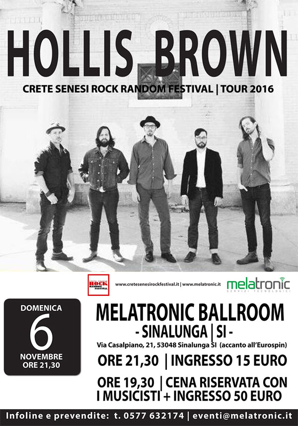 HOLLIS BROWN, LA SUPER ROOTS ROCK BAND, A SINALUNGA IL 6 NOVEMBRE!